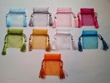 Gorgeous Organza Gift & Favor Bags with Tassels (10 Pieces) Pick from 9 Colors