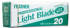 Feather Professional Light Blade 20pcs -thin - 0.254 mm - Made in Japan