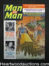 """Man to Man"" October 1962 Male Bondage Cover GGA,Interior Male Bondage - High Gr"