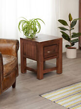 Baumhaus Mayan Walnut One Drawer Lamp Table