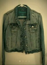 Aeropostale Women's Torn Distressed Denim/Jean Jacket, Size L, NWT $79.00