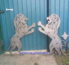 Lion Art Outdoor Dxf Cnc Vector Plasma Router Laser Cut Dxf Cdr Files Metal