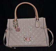 $128 GUESS Juliet Girlfriend Satchel Bag Purse Quilted Signature Logo Charm New