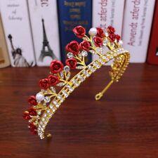 Rose Crystal Bridal Tiara Wedding Princess Hair Crown Princess Diadem Tool h