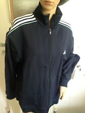 Adidas Tracksuit Top Navy with Sky Blue Piping Size 44/46