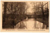 CPA 49 - BRISSAC (Maine et Loire) 20. Paysage sur l'Aubance et pont de la route