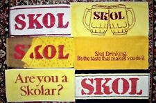 6 Different SKOL LAGER Beer - Bar Towels -  used Lot 5