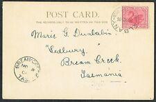 More details for 1906 western australia albany postcard to tasmania albany + bream creek cds