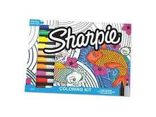 Sharpie 1989554 Adult Coloring Kit, Aquatic Theme Coloring Book With 20 Markers