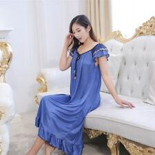 Mujer Vestido Largo De Noche Ropa De Dormir Camisón De Lujo Para Dormir Verano Home Wear