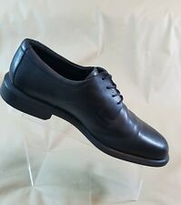 Bostonian Mens Cap Toe Black Leather  Oxford Non Stop Water Proof Size 12M  #A43