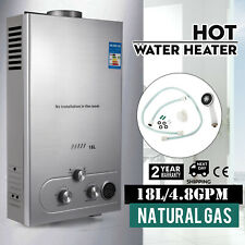 18L Natural Gas Hot Water Heater 5GPM On-Demand Tankless Instant Boiler + Shower