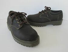Skechers Womens Brown Nubuck Leather Chunky Lug Sole Lace up Oxford Shoes  8 M