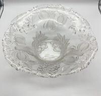 Große Obstschale / Schale aus Bleikristall handgeschliffen - Vintage 35cm #K103