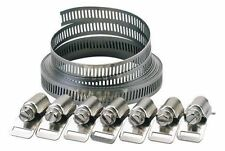 Hose Clamp Clips Jubilee Clip Kit Make Your Clamps Any Size 3m x 8mm 8 Clamps