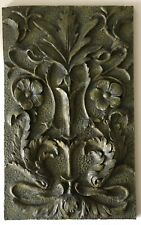 Resin Wall Plaque Tile Dolphin Flowers Aesthetic Morris Style