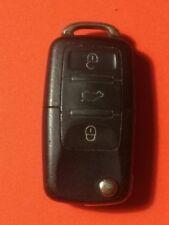 VOLKSWAGEN VW 3 botón remoto Flip Llavero comprobado! mira!