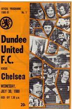 1980/81    Dundee Utd     v    Chelsea    MINT    Friendly