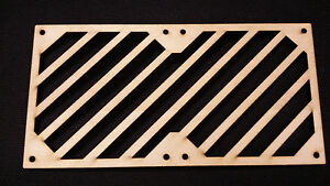 240mm PC fan grill for PC modding and fan protection - 6mm thick MDF