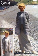 "Wendy  Chunky Knitting Pattern Ladies  Cardigan  Jacket Size 34/44"""