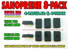 "Duck Call Sanoprene Wedges 8-Pack 4-Single & 4-Double Reed ""J"" Frame Inserts"