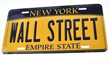 USA Auto Nummernschild License Plate Deko Blechschild New York Wall Street