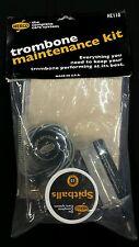 Herco Trombone Maintenance Kit HE110 Slide Oil Flex Brush Spitballs Grease