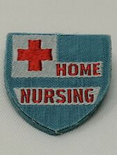 Vintage American Red Cross ARC Pin Fabric HOME NURSING WWII EXCELLENT Bin 9/21