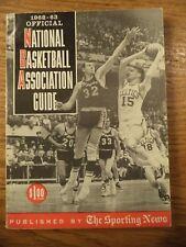 1962 - 1963 NBA SPORTING NEWS OFFICIAL NATIONAL BASKETBALL ASSOCIATION GUIDE