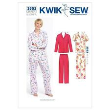 KWIK SEW SEWING PATTERN MISSES' PAJAMAS SIZES XS - XL K3553