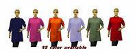 New Indian solid Pattern Designer tunic top Kurta Kurti Women Ethnic