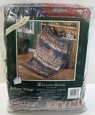"Dept 56 Dickens Village Christmas Triple Woven Throw Blanket 50"" X 68"" NEW"