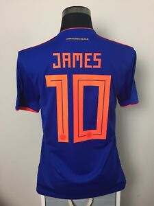 JAMES #10 Colombia Away Football Shirt Soccer Jersey 2018/19 (M)
