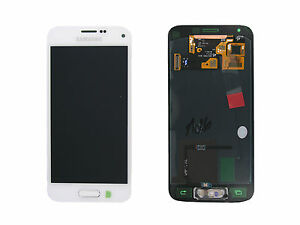 Genuine Samsung G800 Galaxy S5 Mini White LCD Screen & Digitizer - GH97-16147B