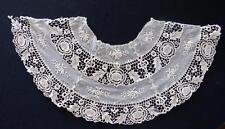 "Vintage Edwardian-1920'S Tea Color Embroidered Cotton Lace Collar 10"" L X 37"" W"