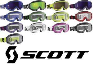 Scott Hustle X Goggles Motocross MX Off Road Dirt Bike Enduro ATV Quad UTV