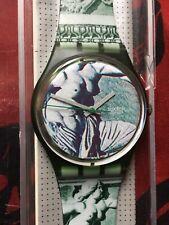 Orologio Swatch Gent CUPYDUS (GG112)-NUOVO+nuova batteria! Barocco/arte - verde
