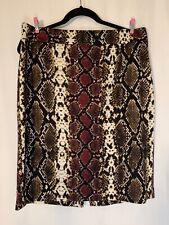 Calvin Klein Animal Print Skirt Size 14 Back Slit