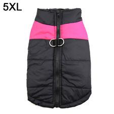Pet Vest Jacket Warm Waterproof Dog Outdoor Costume Pink 5xl