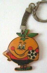 Rare Spain 1982 Fifa World Cup Mascot Naranjito Espana Football Plastic Keychain