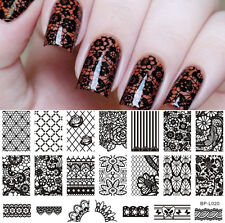 Nail Art Stamp Plate Lace Flower Pattern Image Template BP-L020 BORN PRETTY