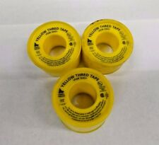 Qty-3 Federal Process Yellow Yt75 Thread Tape for Gas Roll 520' long, 1' width
