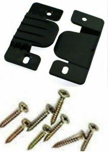 4 x Plastic Connector CLIPS/PLATE/BRACKET JOINT DIVAN BED/SOFA SUITE FREE SCREWS