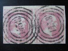 PRUSSIA PREUSSEN GERMAN STATES Mi. #6 used XF stamp pair! CV $120.00