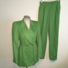 Escada Roman Green 2-Piece Suit Jacket  34 and Pants 36