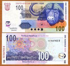 South Africa, 100 rand, ND (2005), P-131a, UNC > Buffalo