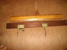 Tv242 Antique Brass & Mahogany Trammel Points & Bar Taltender & Sons Compass