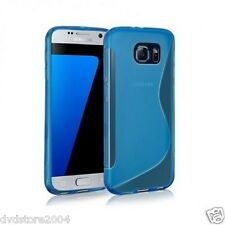 Custodia Cover S Line WAVE BLU Morbida TPU Gel per Samsung Galaxy S7 EDGE G935
