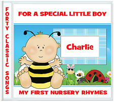 Nursery Rhymes CD - First album - Personalised Gifts for Boys - Gifts for Babies