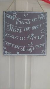Good Friends Are Like Stars Wooden Plaque Sign